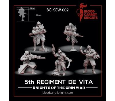 BloodCarrotKnights - Squad of the 5th Regiment de Vita