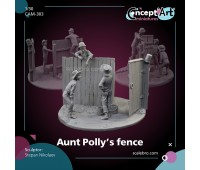 Aunt Poly's fence by Stepan Nikolaev