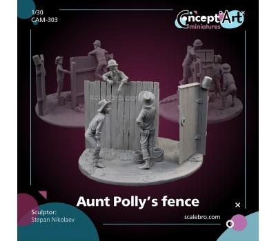Aunt Polly's fence by Stepan Nikolaev