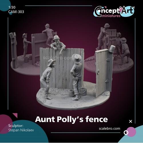 Aunt Poly's fence by Stepan Nikolaev