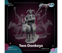Two Donkeys by Stepan Nikolaev