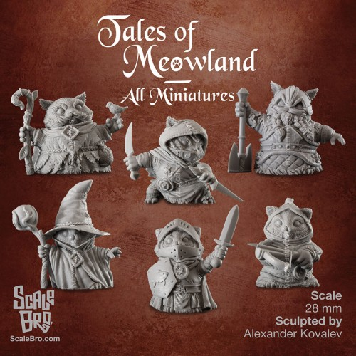 All Tales of Meowland miniatures