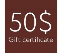 Подарочный сертификат 50$