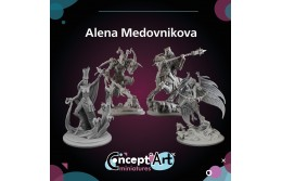 Concept Art Minaitures by Alena Medovnikova